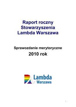 Pobierz - Stowarzyszenie Lambda Warszawa