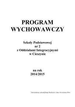 program wychowawczy - Szkoła Podstawowa nr 2 z Oddziałami
