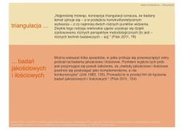 triangulacja badań jakościowych i ilościowych