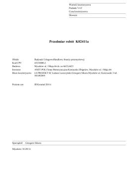 Przedmiar robót K02411a