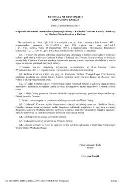 UCHWAŁA NR XXXV/256/2013 RADY GMINY KWILCZ z dnia 24