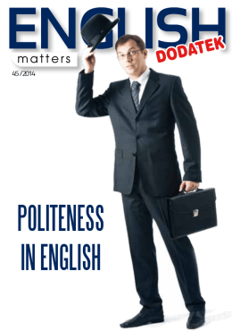 Politeness in english - English Matters