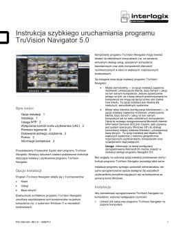 TruVision Navigator 5.0 - skrócona instrukcja instalacji