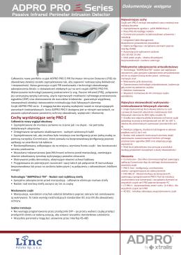 Czujki PIR - broszura - PDF - Xtralis FastTrace Adpro Heitel Linc
