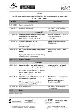Program Przyszłość i inspiracje dla III sektora w Wielkopolsce