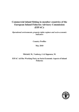 Commercial inland fishing in member countries of the European