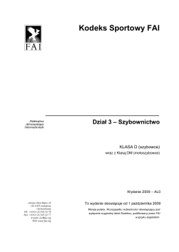 Kodeks Sportowy FAI