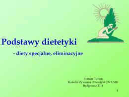 Podstawy dietetyki - diety specjalne, eliminacyjne