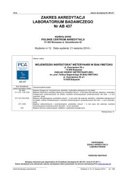 AB 437 - Polskie Centrum Akredytacji