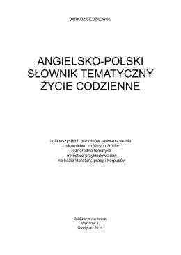 Angielsko-polski słownik tematyczny: życie codzienne (2014)