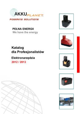 katalog akumulatorów do elektronarzędzi