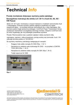 Szczegółowa instrukcja dla silnika 2,8 l 30 V w Audi A4