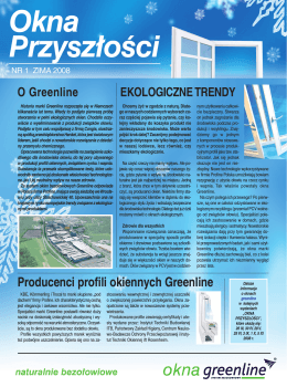 EKOLOGICZNE TRENDY Producenci profili okiennych Greenline