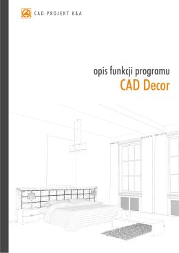 Opis funkcji programu CAD Decor 1