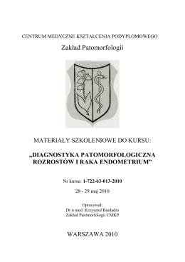 skrypt_maj_2010 - Zakład Patomorfologii CMKP