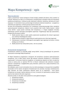 Mapa Kompetencji - opis