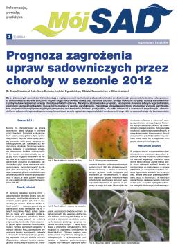 Prognoza zagrożenia upraw sadowniczych przez choroby w