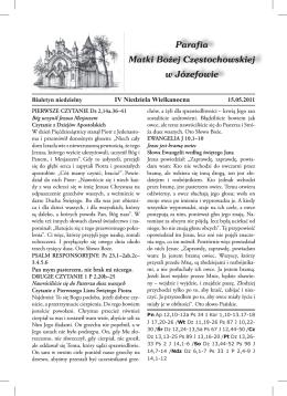 2011.05.15 - Parafia Józefów pw Matki Bożej Częstochowskiej