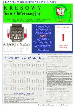 Numer 01/2012 (08) - Kresowy Serwis Informacyjny