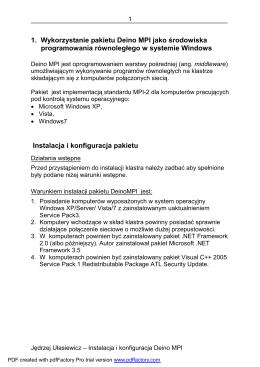 1. Wykorzystanie pakietu Deino MPI jako środowiska
