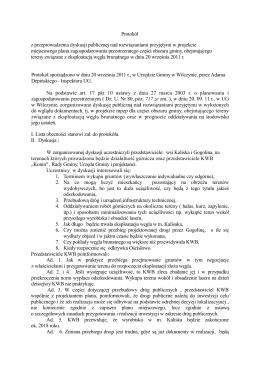 Protokół z przeprowadzenia dyskusji publicznej nad rozwiązaniami