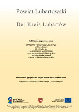 Folder powiatu lubartowskiego (wersja polsko – niemiecka)