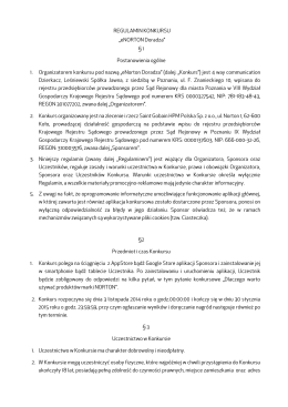 """REGULAMIN KONKURSU """"eNORTON Doradza"""
