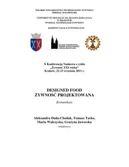 Materiały - Polskie Towarzystwo Technologów Żywności Oddział