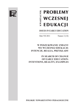 intencje, realia, przykłady - Problemy Wczesnej Edukacji