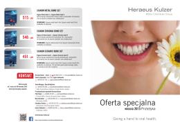 Oferta specjalna - Heraeus