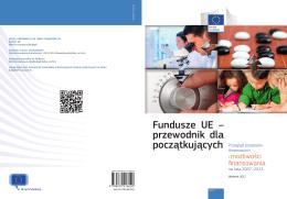 Fundusze UE – przewodnik dla