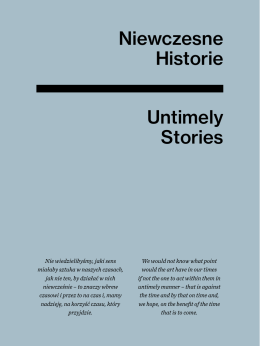 Niewczesne Historie Untimely Stories