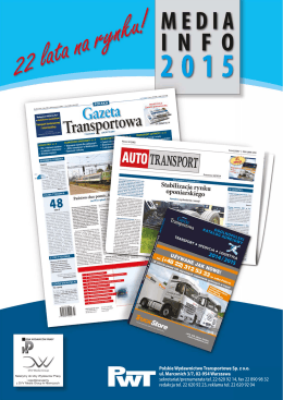 Media info 2015 - Polska Gazeta Transportowa