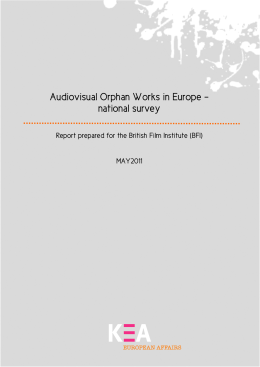 Audiovisual Orphan Works in Europe – national survey