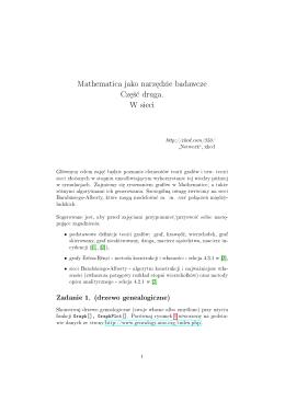 Mathematica jako narz¦dzie badawcze Cz¦±¢ druga. W sieci