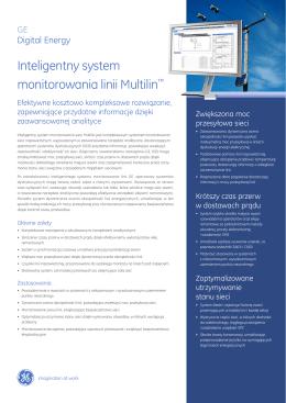 Inteligentny system monitorowania linii Multilin™