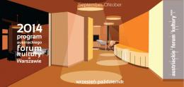 program Wrzesień - Październik 2014