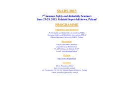 SSARS 2013-Programme