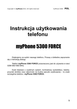 Instrukcja użytkowania telefonu myPhone 5300