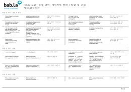 고급 문장 번역: 개인적인 연락 | 알림 및 초대 (영어