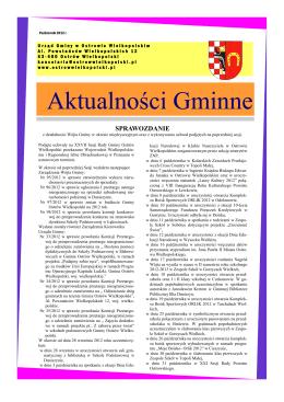 PAŹDZIERNIK 2012 (pdf) - Gmina Ostrów Wielkopolski