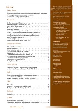 Nr 46 Październik 2012 - Biblioteka Główna Akademii Medycznej w