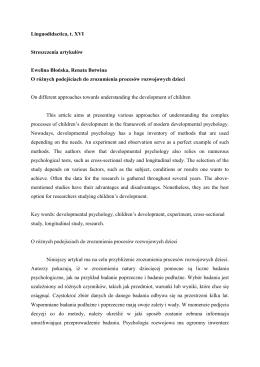 Linguodidactica, t. XVI Streszczenia artykułów Ewelina Błońska