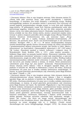 o. prof. Dr hab. Piotr Liszka CMF o. prof. Dr hab. Piotr Liszka CMF