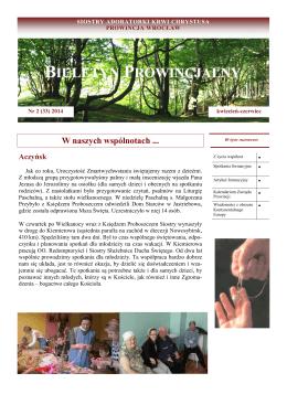 Nr 2 2014 - Zgromadzenie Sióstr Adoratorek Krwi Chrystusa