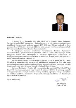 Biuletyn 1/2012 - Stowarzyszenie Polskich Wynalazców i