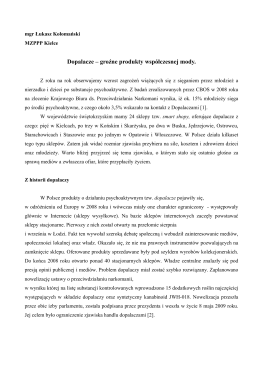 Dopalacze - Miejski Zespół Poradni Psychologiczno Pedagogicznych