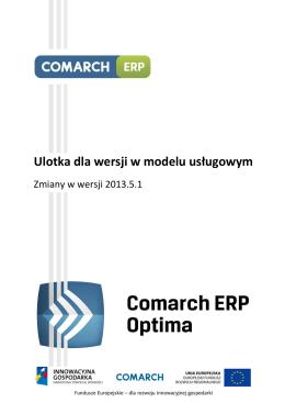 Zmiany w wersji 2013.5.1 Comarch ERP Optima