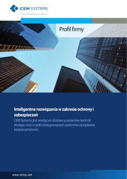 Profil firmy - CEM Systems