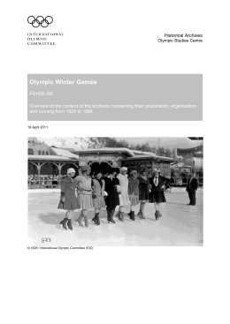 Olympic Winter Games.pdf - International Olympic Committee